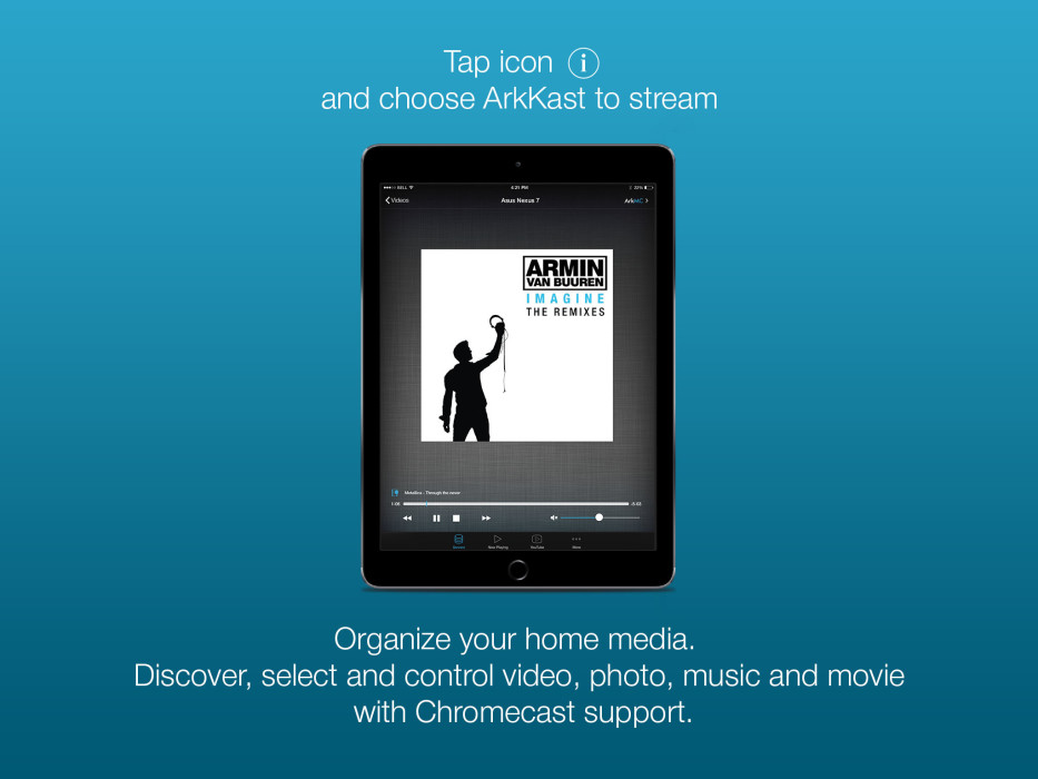 ArkMC iOS media streaming server, network video audio pleayr